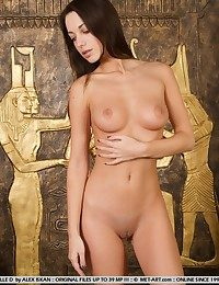 Confident brunette in provocative poses and intimiate closeups.