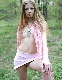Teen girl take pink